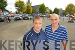 Eddie Horgan and Denis Kelliher who are organising a protest in the square in Listowel on Saturday at Ten AM against changes to the pension.