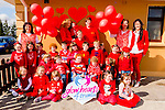 Glow Hearts for Crumlin- all the children and teachers photographed at the Maggie's Montessori, Glenflesk last Thursday.