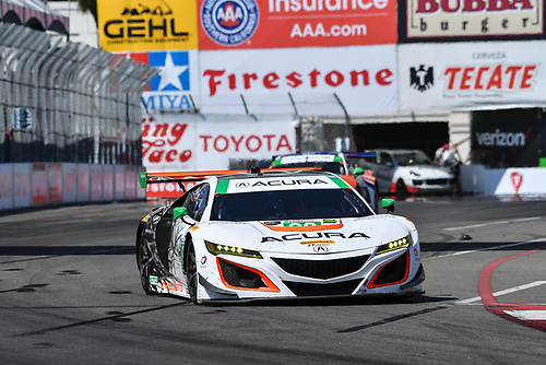 2017 IMSA WeatherTech SportsCar Championship<br /> BUBBA burger Sports Car Grand Prix at Long Beach<br /> Streets of Long Beach, CA USA<br /> Saturday 8 April 2017<br /> 93, Acura, Acura NSX, GTD, Andy Lally, Katherine Legge<br /> World Copyright: Richard Dole/LAT Images<br /> ref: Digital Image RD_LB17_382