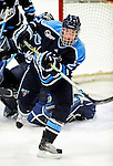 29 January 2010: University of Maine Black Bears' forward Tanner House, a Junior from Cochrane, Alberta, in third period action against the University of Vermont Catamounts at Gutterson Fieldhouse in Burlington, Vermont. The Black Bears defeated the Catamounts 6-3 in the first game of their America East weekend series. Mandatory Credit: Ed Wolfstein Photo