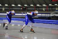 SCHAATSEN: IJSSTADION THIALF: 11-06-2013, Training zomerijs, Schaatsteam Project 2018, ©foto Martin de Jong