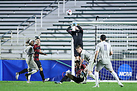 CARY, NC - DECEMBER 13: Andrew Thomas #1 of Stanford University punches the ball during a game between Stanford and Georgetown at Sahlen's Stadium at WakeMed Soccer Park on December 13, 2019 in Cary, North Carolina.