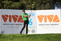 Sebastian Heisele (GER) on the 6th tee during Round 1 of the Challenge Tour Grand Final 2019 at Club de Golf Alcanada, Port d'Alcúdia, Mallorca, Spain on Thursday 7th November 2019.<br /> Picture:  Thos Caffrey / Golffile<br /> <br /> All photo usage must carry mandatory copyright credit (© Golffile | Thos Caffrey)