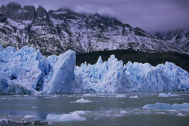 Glacier, Lago Grey, Patagonia