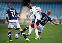Bolton Wanderers' Gary Madine battles for possession with Millwall's George Saville<br /> <br /> Photographer Ashley Western/CameraSport<br /> <br /> The EFL Sky Bet Championship - Millwall v Bolton Wanderers - Saturday August 12th 2017 - The Den - London<br /> <br /> World Copyright &copy; 2017 CameraSport. All rights reserved. 43 Linden Ave. Countesthorpe. Leicester. England. LE8 5PG - Tel: +44 (0) 116 277 4147 - admin@camerasport.com - www.camerasport.com