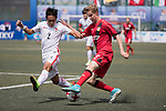 Bayer Leverkusen (in red) vs HKFC U-23 (in white) during their Main Tournament match, part of the HKFC Citi Soccer Sevens 2017 on 27 May 2017 at the Hong Kong Football Club, Hong Kong, China. Photo by Chris Wong / Power Sport Images