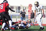 Palos Verdes, CA 11/10/10 - Lorenzo Nunziati (Peninsula #13) in action during the junior varsity football game between Peninsula and Palos Verdes at Palos Verdes High School.