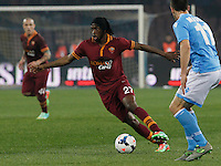 Gervinho  in action during the Italian Serie A soccer match between SSC Napoli and AS Roma   at San Paolo stadium in Naples, March 09 , 2014