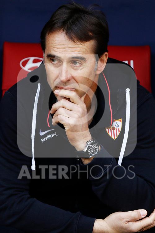 Sevilla FC's coach Julen Lopetegui during La Liga match. Mar 07, 2020. (ALTERPHOTOS/Manu R.B.)