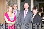 SOCIAL: Enjoying the fun at the Ballymac GAA social at the Ballygarry House hotel and Spa on Saturday l-r: Sheila and Donal Rahilly and Mike and Rose Brosnan.
