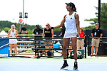 WINSTON SALEM, NC - MAY 22: Astra Sharma of Vanderbilt Commodores celebrates her singles victory against the Stanford Cardinal during the Division I Women's Tennis Championship held at the Wake Forest Tennis Center on the Wake Forest University campus on May 22, 2018 in Winston Salem, North Carolina. Stanford defeated Vanderbilt 4-3 for the national title. (Photo by Jamie Schwaberow/NCAA Photos via Getty Images)