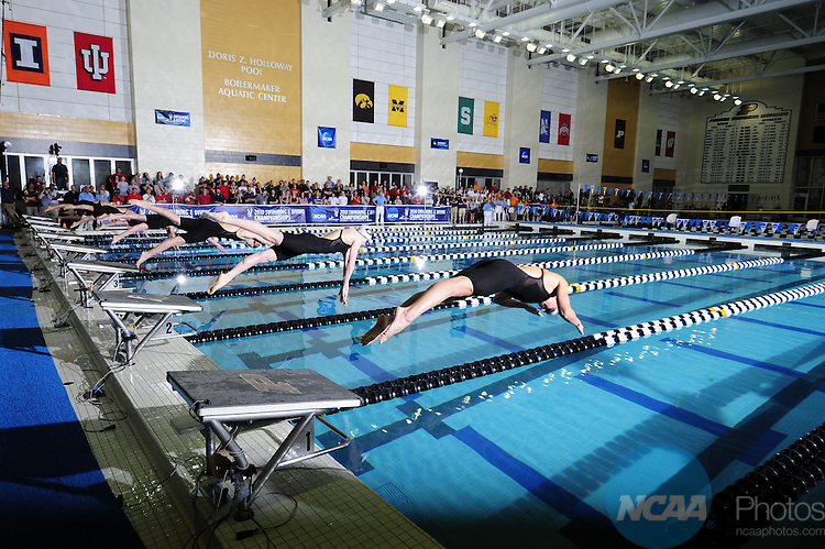 20 MAR 2010:  Athletes compete during the Division I Women's Swimming and Diving Championship held at the Boilermaker Aquatic Center on the Purdue University campus in West Lafayette, IN.  Andrew Hancock/NCAA Photos