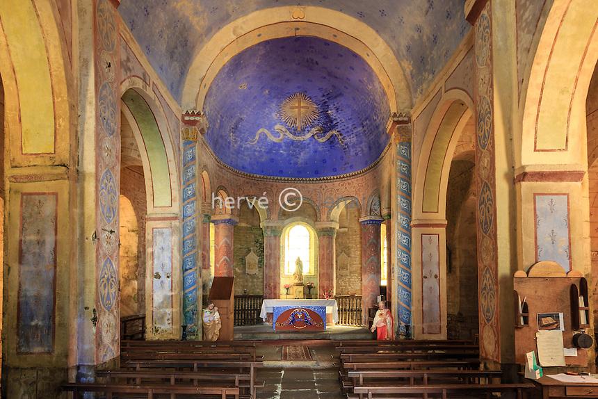 France, Creuse (23), Toulx-Sainte-Croix, église Saint-Martial de Toulx-Sainte-Croix // France, Creuse, Toulx Sainte Croix, the church