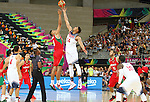 06.09.2014. Barcelona, Spain. 2014 FIBA Basketball World Cup, round of 16. Picture show A. Davis and G. Ayon   in action during game between  Mexico v Usa  at Palau St. Jordi