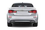 Straight rear view of a 2015 Infiniti Q70 Base 5 Door Sedan Rear View  stock images