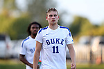 BROWNS SUMMIT, NC - SEPTEMBER 16: Duke's Max Moser (AUT). The University of North Carolina Tar Heels hosted the Duke University Blue Devils on September 16, 2017 at Macpherson Stadium in Browns Summit, NC in a Division I college soccer game. UNC won the game 2-1.