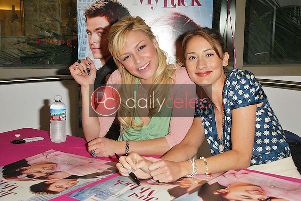 """Samaire Armstrong and Bree Turner<br />at an in store appearance to promote their new movie """"Just My Luck"""". Saphora Salon, Hollywood, CA. 04-29-06<br />Jason Kirk/DailyCeleb.com 818-249-4998"""