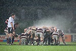 Steam rises from the forward packs as the rain continues to fall during the ITM Cup Round 4 and Ranfurly Shield rugby game between Counties Manukau Steelers and Southland, played at Rugby Park Invercargill, on Friday July 29th 2011..Southland won the game 22 - 14 after leading 13 - 6 at halftime.