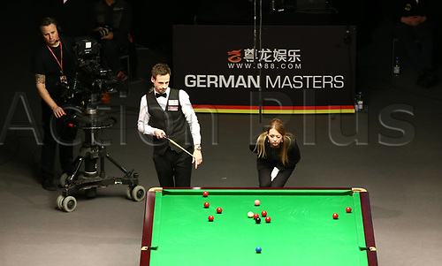 3rd February 2019, Berlin, Germany; Snooker Berlin German Masters in Tempodrom;  Finale David Gilbert