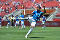 Santa Clara, CA - Sunday July 22, 2018: Danny Hoesen during a friendly match between the San Jose Earthquakes and Manchester United FC at Levi's Stadium.