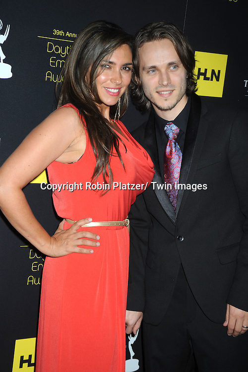 Jonathan Jackson and wife Lisa attends the 39th Annual Daytime Emmy Awards on June 23, 2012 at the Beverly Hilton in Beverly Hills, California. The awards were broadcast on HLN.