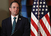 White House Chief of Staff Reince Priebus attends the swearing in ceremony for Nikki Haley as the U.S. Ambassador to the United Nations January 25, 2017 in Washington, DC. Haley was formerly the Governor of South Carolina.  <br /> Credit: Win McNamee / Pool via CNP
