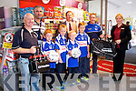 Twohig's Supervalu presenting Abbeyfeale's Fr. Casey's GAA Committee Members and players with  €1000 worth of training equipment, which they won as part of the in store GAA promotion on Monday. Pictured Back row L-R: Michael Hartnett, John Lenihan, Fr.Casey's GAA, Michael Twohig, Twohig's Supervalu Abbeyfeale, Gerard O'Connor, Fr.Casey's GAA, Ramune Ziliene, Manager Twohig's Supervalu Abbeyfeale. Front row L-R: Liam O'Connor, Cathal and Cian Hartnett and Ronan Quirke, Fr. Casey's GAA Players.