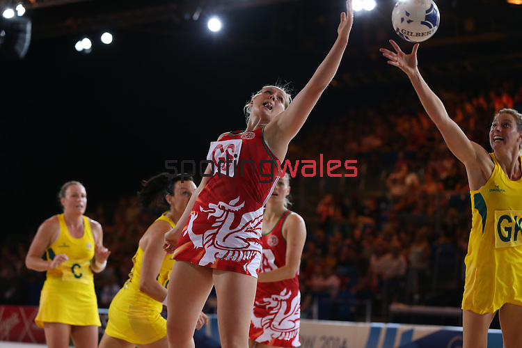 Glasgow 2014 Commonwealth Games<br /> Wales v Australia<br /> Scotland Exhibition & Conference Centre.<br /> <br /> 24.07.14<br /> ©Steve Pope-SPORTINGWALES