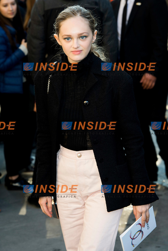 Lily Taieb Chanel s fashion show arrivals - Paris - 04/10/2016 <br /> Foto Panoramic / Insidefoto