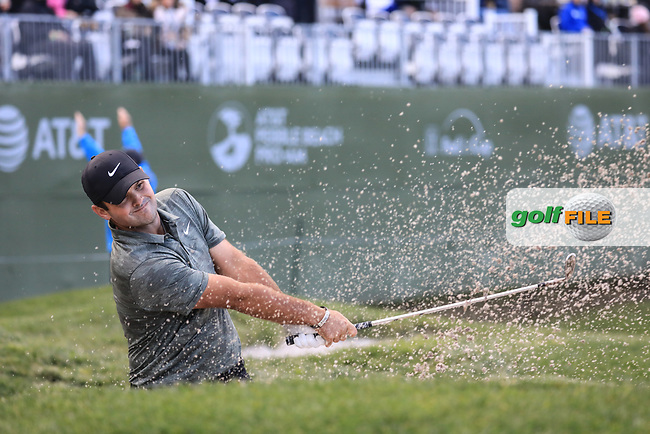 Patrick Reed (USA) in action at Pebble Beach Golf Links during the third round of the AT&amp;T Pro-Am, Pebble Beach Golf Links, Monterey, USA. 09/02/2019<br /> Picture: Golffile | Phil Inglis<br /> <br /> <br /> All photo usage must carry mandatory copyright credit (&copy; Golffile | Phil Inglis)