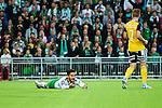 Stockholm 2014-08-24 Fotboll Superettan Hammarby IF - Ljungskile SK :  <br /> Hammarbys Pablo Pinones-Arce gestikulerar efter en straff situation i slutet av matchen<br /> (Foto: Kenta J&ouml;nsson) Nyckelord:  Superettan Tele2 Arena Hammarby HIF Bajen Ljungskile LSK depp besviken besvikelse sorg ledsen deppig nedst&auml;md uppgiven sad disappointment disappointed dejected arg f&ouml;rbannad ilsk ilsken sur tjurig angry