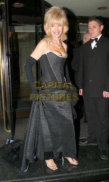 SALLY FARMILOW.BAFTA TV Awards.Grosvenor House Hotel.full length, full-length, black gown, gloves.www.capitalpictures.com.sales@capitalpictures.com.© Capital Pictures.