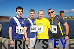Robert Falvey, James O'Connell, Brian O'Shea and Conor Cusack  pictured at the Rose of Tralee International 10k Race in Tralee on Sunday.