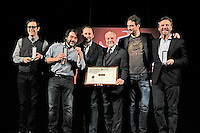 Giornate Professionali del Cinema 2014     <br /> greg,Christian de Sisa   , aurelio de laurentiis, luigi de Laurentiis , lillo and Vilfango De Biasi    during the professional days of cinema in Sorrento december 03 , 2014                         Giornate Professionali del Cinema 2014