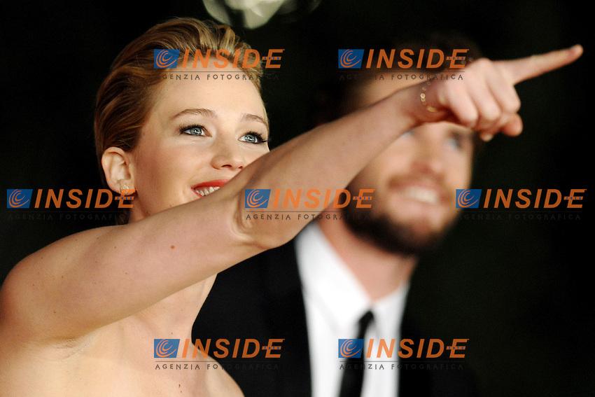 Jennifer Lawrence<br /> Roma 14-11-2013 Auditorium <br /> Festival Internazionale del Film di Roma<br /> Rome Film Festival,Red Carpet &quot;The Hunger Games: Catching Fire&quot;<br /> Foto Antonietta Baldassarre / Insidefoto