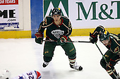 February 24th 2008:  Petr Kalus (15) of the Houston Aeros looks for the puck during a game vs. the Rochester Amerks at Blue Cross Arena at the War Memorial in Rochester, NY.  The Aeros defeated the Amerks 4-0.   Photo copyright Mike Janes Photography 2008