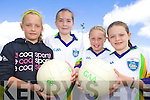 CU?L: On the ball at the VHI GAA Cu?l Camp in Rathmore last Thursday were, l-r: Aoife O'Callaghan, Catrina Mahony, Neisha Brosnan and Megan O'Connor.