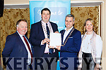 Paul Sherry Killarney Chamber of Commerce, Niall Kelliher Killarney Mayor, Paul O'Neill President Killarney  Chamber of Commerce and Niamh O'Shea Killarney Park Hotel launch the  Killarney  Chamber of Commerce Tourism report in the Killarney Avenue Hotel on Monday evening
