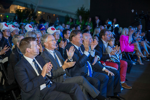 April 30th 2017, Auckland, New Zealand; Closing Ceremony of the World Masters Games; Dignitaries in the VIP area during the closing ceremony of the World Masters Games 2017 held at The Cloud on Auckland's waterfront