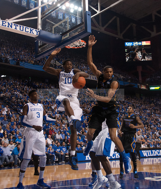 Freshman guard Archie Goodwin rebounds the ball during the first of the UK Men's Basketball game against Morehead State at Rupp Arena in Lexington, Ky., on Wednesday, November. 21, 2012..