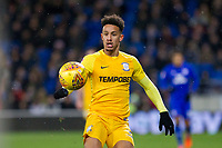 Callum Robinson of Preston North End during the Sky Bet Championship match between Cardiff City and Preston North End at the Cardiff City Stadium, Cardiff, Wales on 29 December 2017. Photo by Mark  Hawkins / PRiME Media Images.