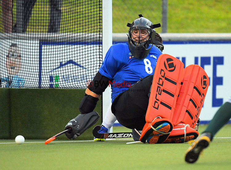 Richard Joyce is beaten from a penalty corner during the international men's hockey match between the NZ Black Sticks and Pakistan at National Hockey Stadium in Wellington, New Zealand on Monday, 20 March 2017. Photo: Dave Lintott / lintottphoto.co.nz