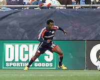New England Revolution forward/midfielder Kenny Mansally (29) moves down the wing. The New England Revolution out scored the Chicago Fire, 2-1, in Game 1 of the Eastern Conference Semifinal Series at Gillette Stadium on November 1, 2009.