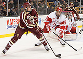 Chris Calnan (BC - 11), Mike Moran (BU - 11) - The Boston College Eagles defeated the Boston University Terriers 3-1 (EN) in their opening round game of the 2014 Beanpot on Monday, February 3, 2014, at TD Garden in Boston, Massachusetts.