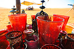Traditional glass lamps in Hud Hud luxury camp in Wahiba Sands, Oman, Middle East