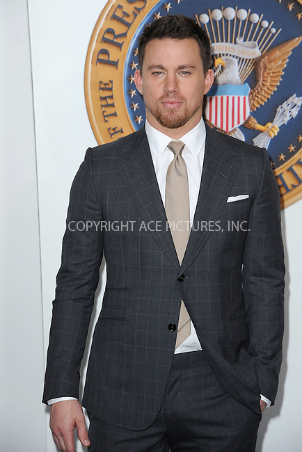 WWW.ACEPIXS.COM<br /> June 25, 2013...New York City <br /> <br /> Channing Tatum attends 'White House Down' New York Premiere at Ziegfeld Theater on June 25, 2013 in New York City.<br /> <br /> Please byline: Kristin Callahan... ACE<br /> Ace Pictures, Inc: ..tel: (212) 243 8787 or (646) 769 0430..e-mail: info@acepixs.com..web: http://www.acepixs.com