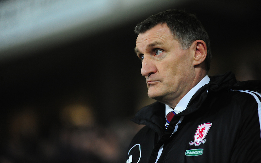 Middlesbrough's Manager Tony Mowbray ..Football - npower Football League Championship - Huddersfield Town v Middlesbrough - Tuesday 05th March 2013 - John Smith's Stadium - Huddersfield..© CameraSport - 43 Linden Ave. Countesthorpe. Leicester. England. LE8 5PG - Tel: +44 (0) 116 277 4147 - admin@camerasport.com - www.camerasport.com