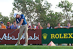 Rory McIlroy tees off on the 16th tee during the Final Day Sunday of the Abu Dhabi HSBC Golf Championship, 23rd January 2011..(Picture Eoin Clarke/www.golffile.ie)