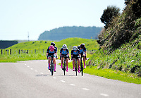 Palmerston North GHS u20 girls in action during the 2017 NZ Schools Road Cycling championships day one team time trials at Koputaroa Road near Levin, New Zealand on Saturday, 30 September 2017. Photo: Dave Lintott / lintottphoto.co.nz