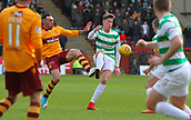 18th March 2018, Fir Park, Motherwell, Scotland; Scottish Premiership football, Motherwell versus Celtic;  Jack Hendry beats Ryan Bowman to the ball